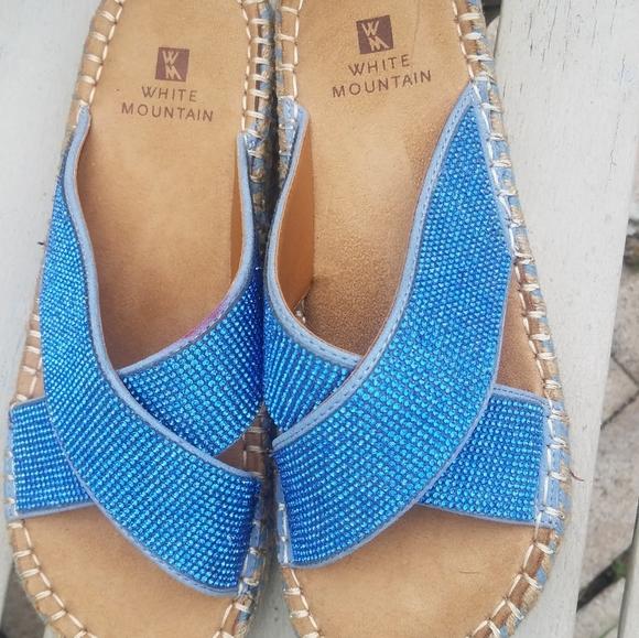 White Mountain Shoes   Blue Rhinestone